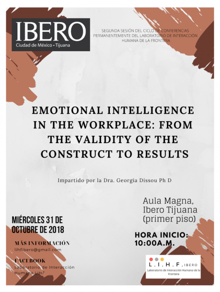 "Conferencia ""Emotional Intelligence in the workplace: from the validity of the construct to results @ Aula Magna"